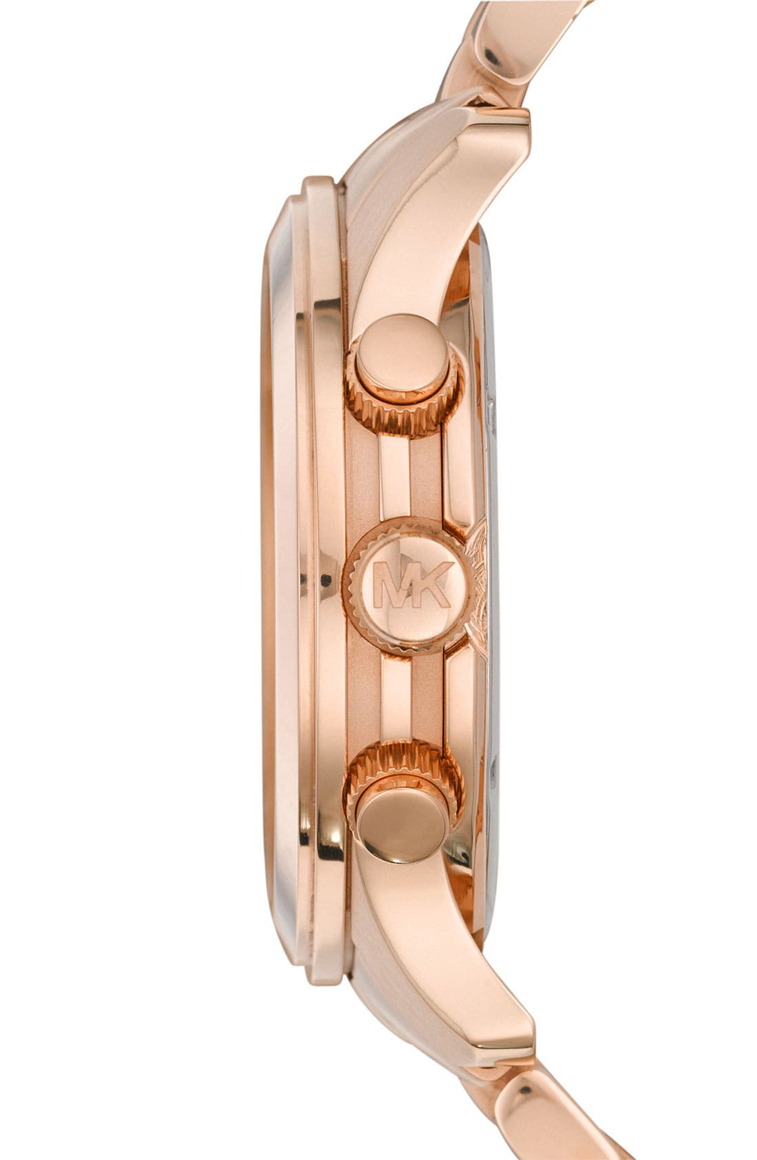 'Large Runway' Rose Gold Plated Watch, 45mm,                             Alternate thumbnail 3, color,                             Rose Gold