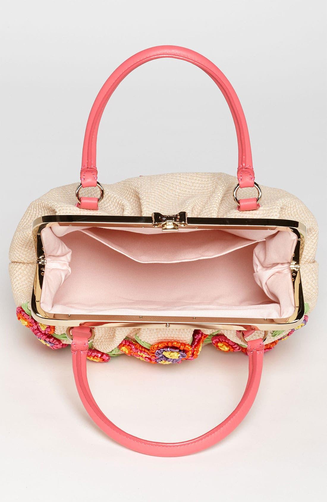 Alternate Image 3  - RED Valentino Embroidered Floral Raffia Handbag