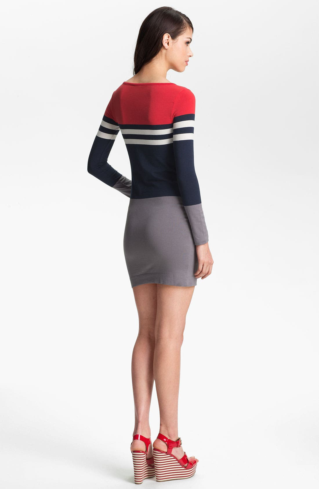 Alternate Image 2  - French Connection 'Suzanne' Stripe Knit Dress