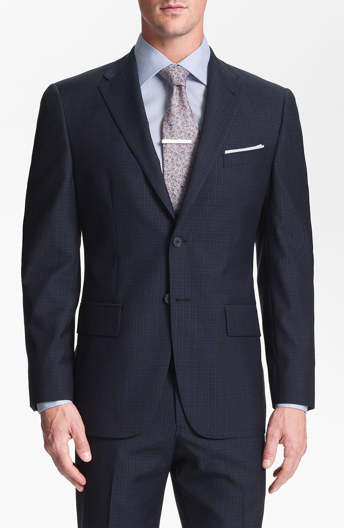Alternate Image 4  - Joseph Abboud Trim Fit Check Wool Suit