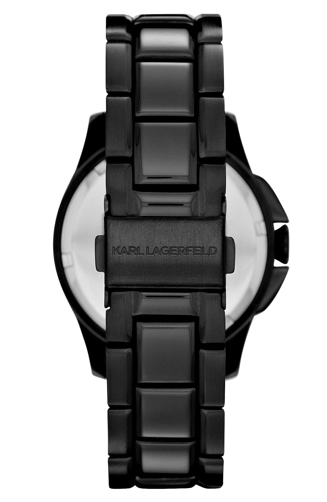 Alternate Image 2  - KARL LAGERFELD '7' Faceted Bezel Bracelet Watch, 36mm (Nordstrom Online Exclusive)