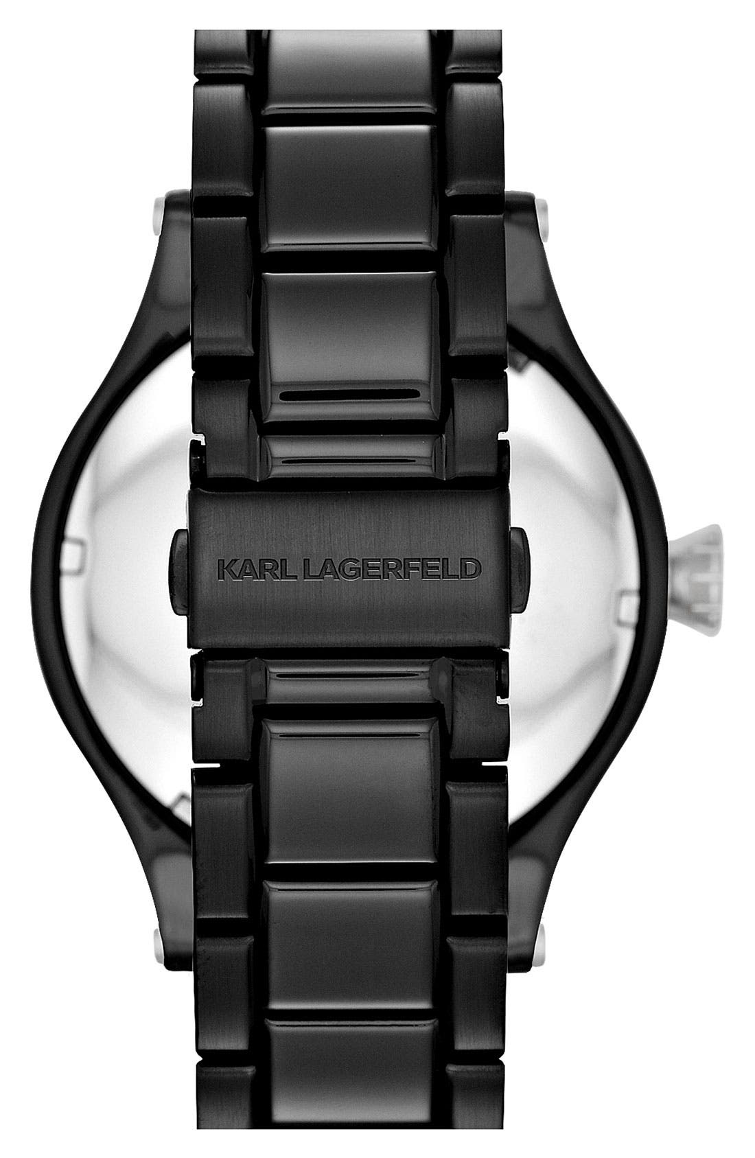Alternate Image 3  - KARL LAGERFELD Chain Detail Bracelet Watch, 44mm