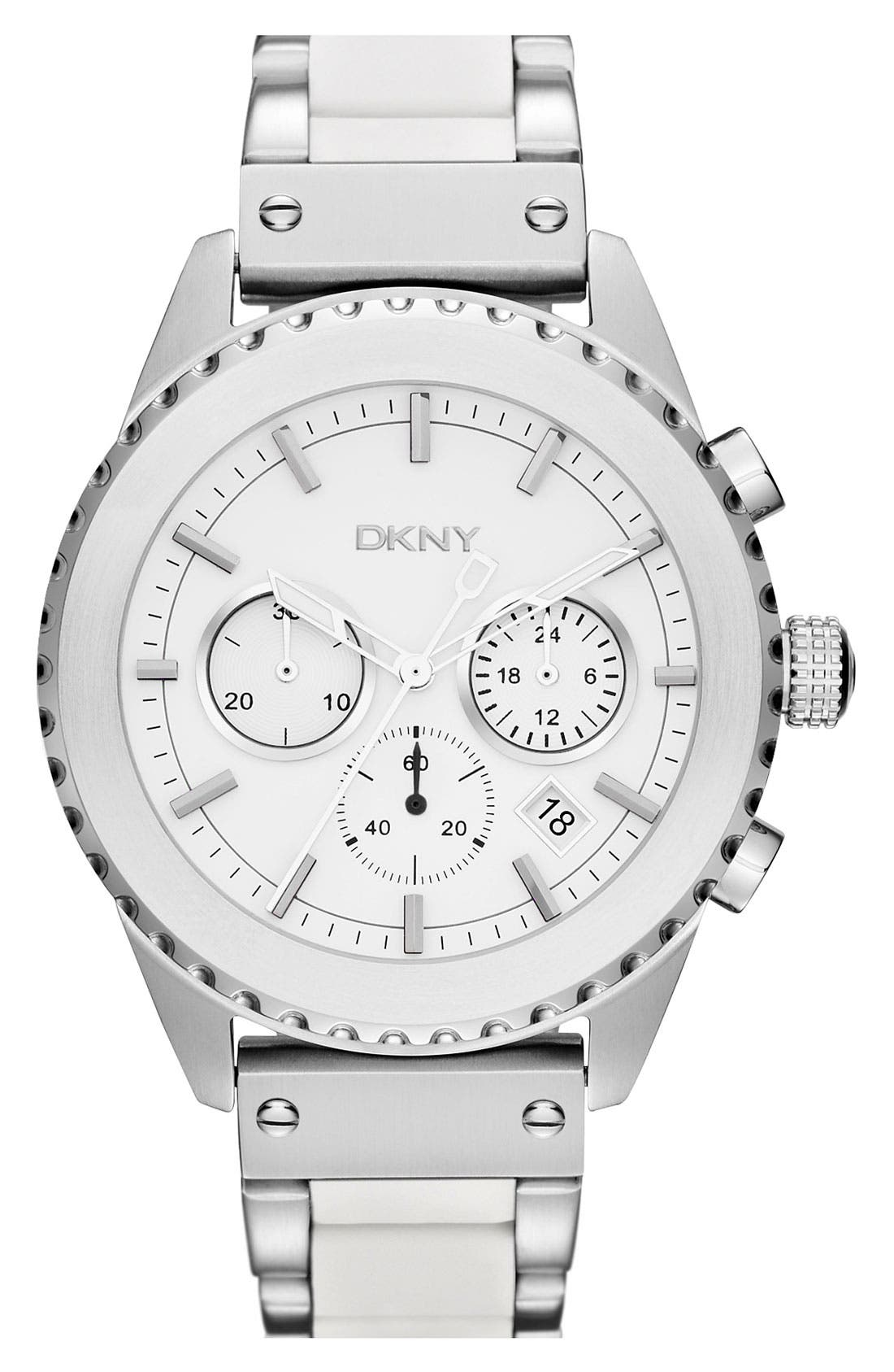Main Image - DKNY Chronograph Bracelet Watch, 42mm