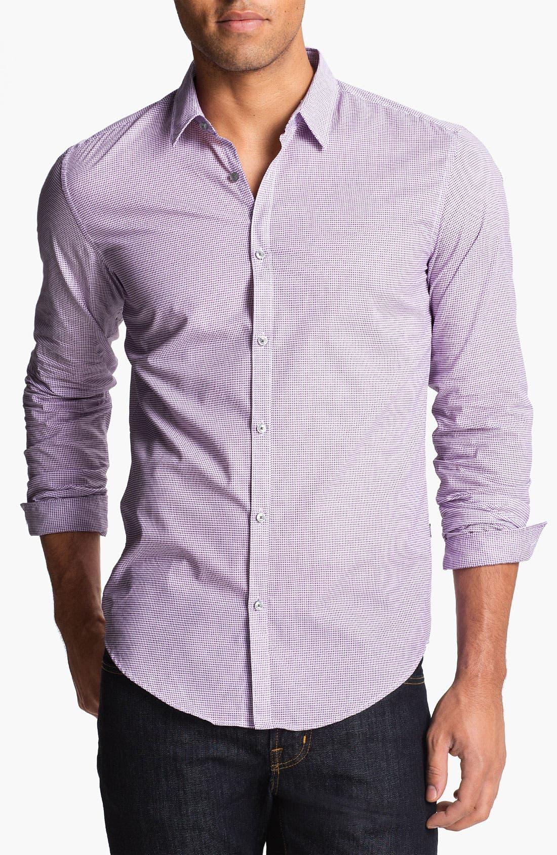 Alternate Image 1 Selected - BOSS HUGO BOSS 'Remus' Slim Fit Sport Shirt