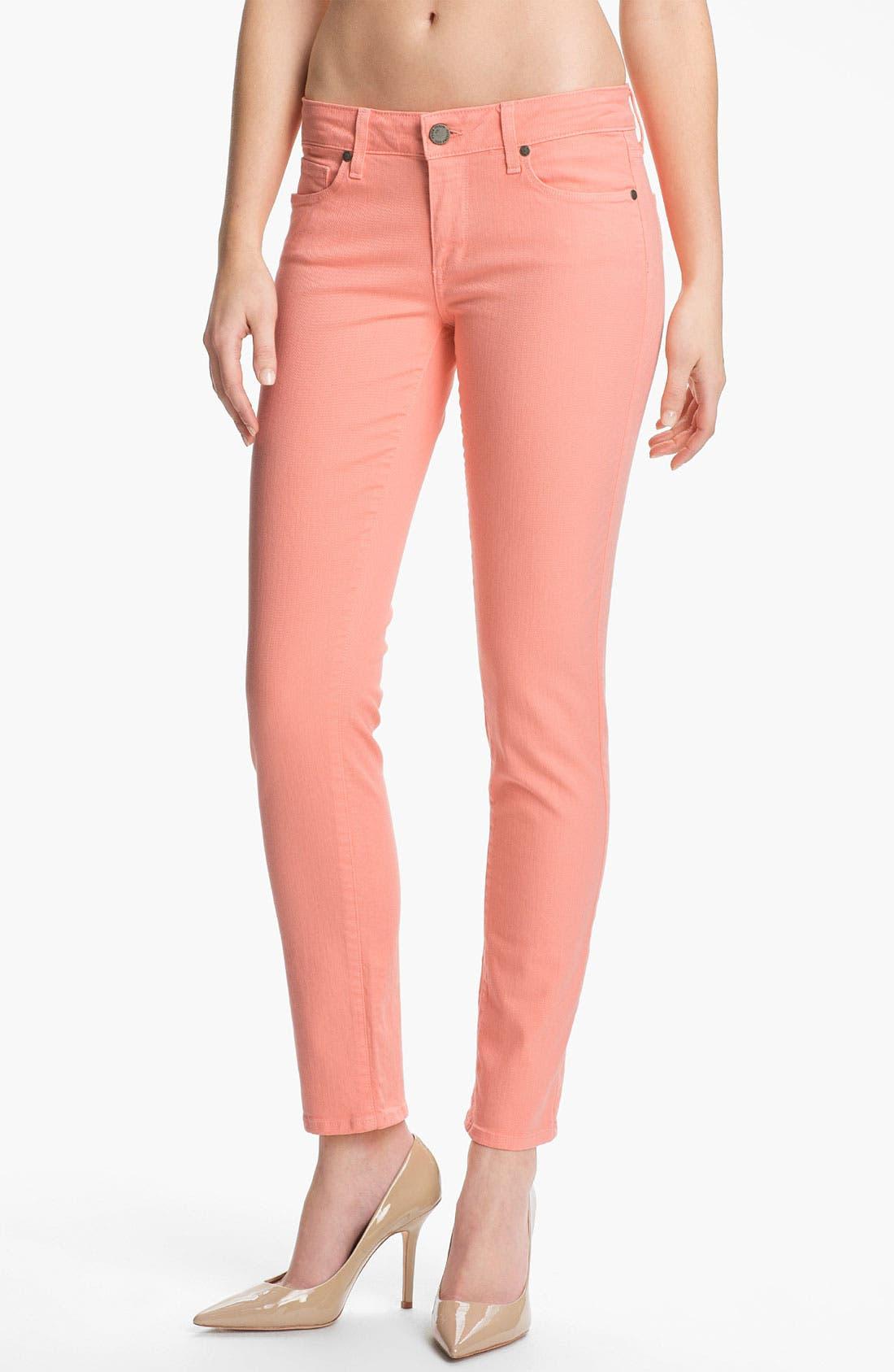 Alternate Image 1 Selected - Paige Denim 'Skyline' Skinny Stretch Ankle Jeans (Flamingo)