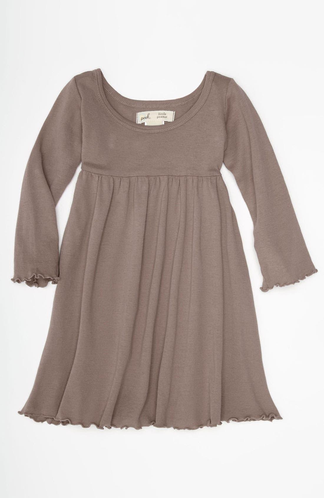 Alternate Image 1 Selected - Peek 'Little Peanut' Long Sleeve Dress (Baby)