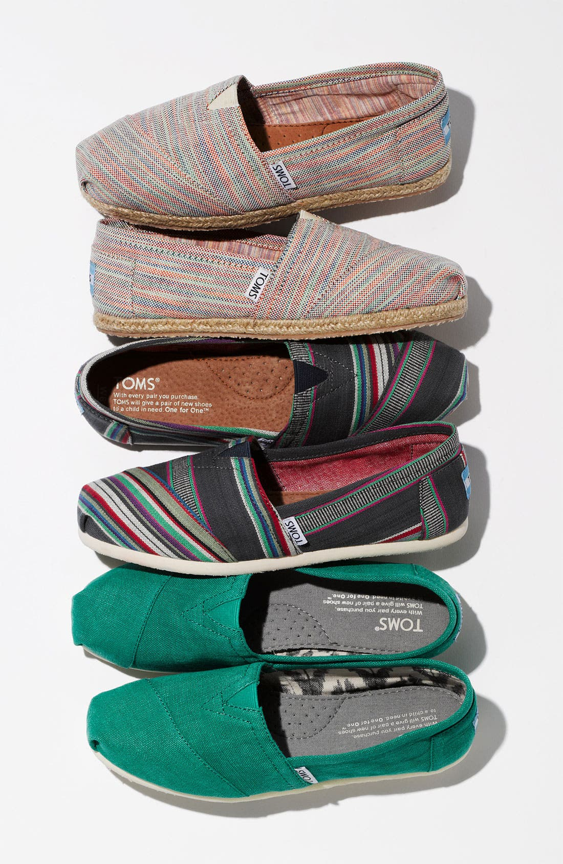 Alternate Image 5  - TOMS 'Classic - Stripe' Slip-On (Women)