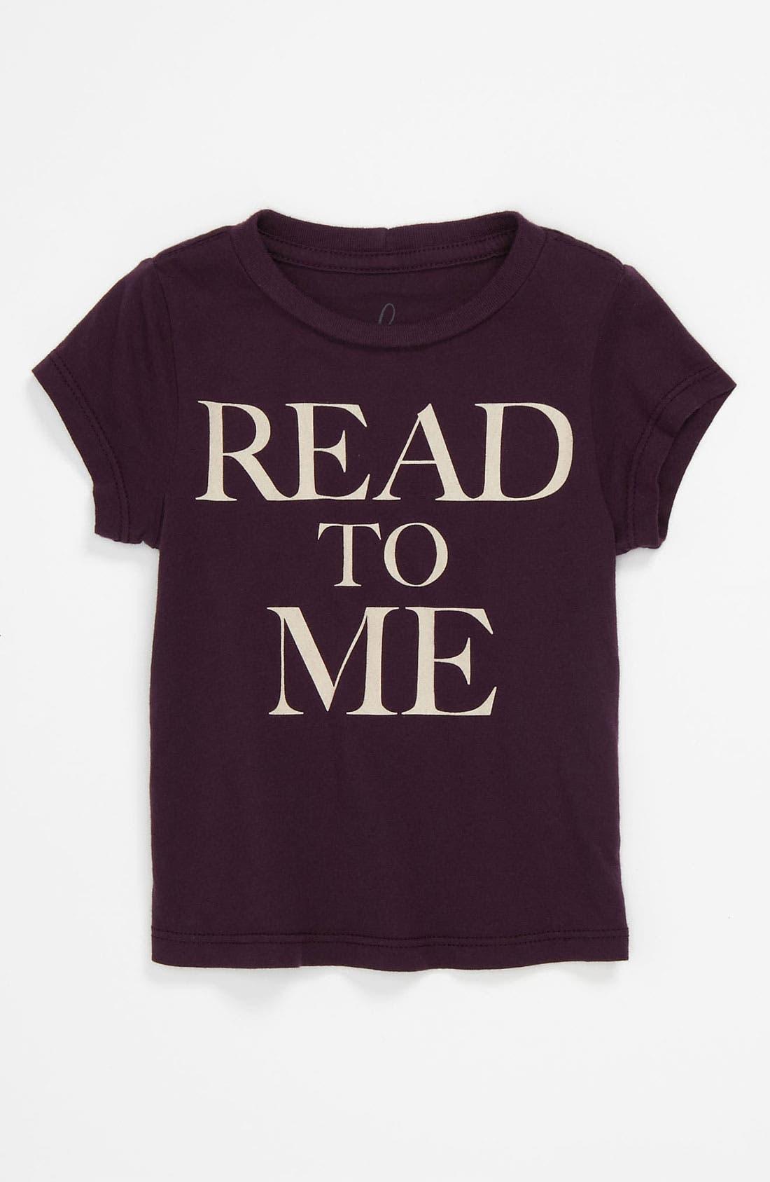 Alternate Image 1 Selected - Peek 'Little Peanut - Read to Me' T-Shirt (Baby)