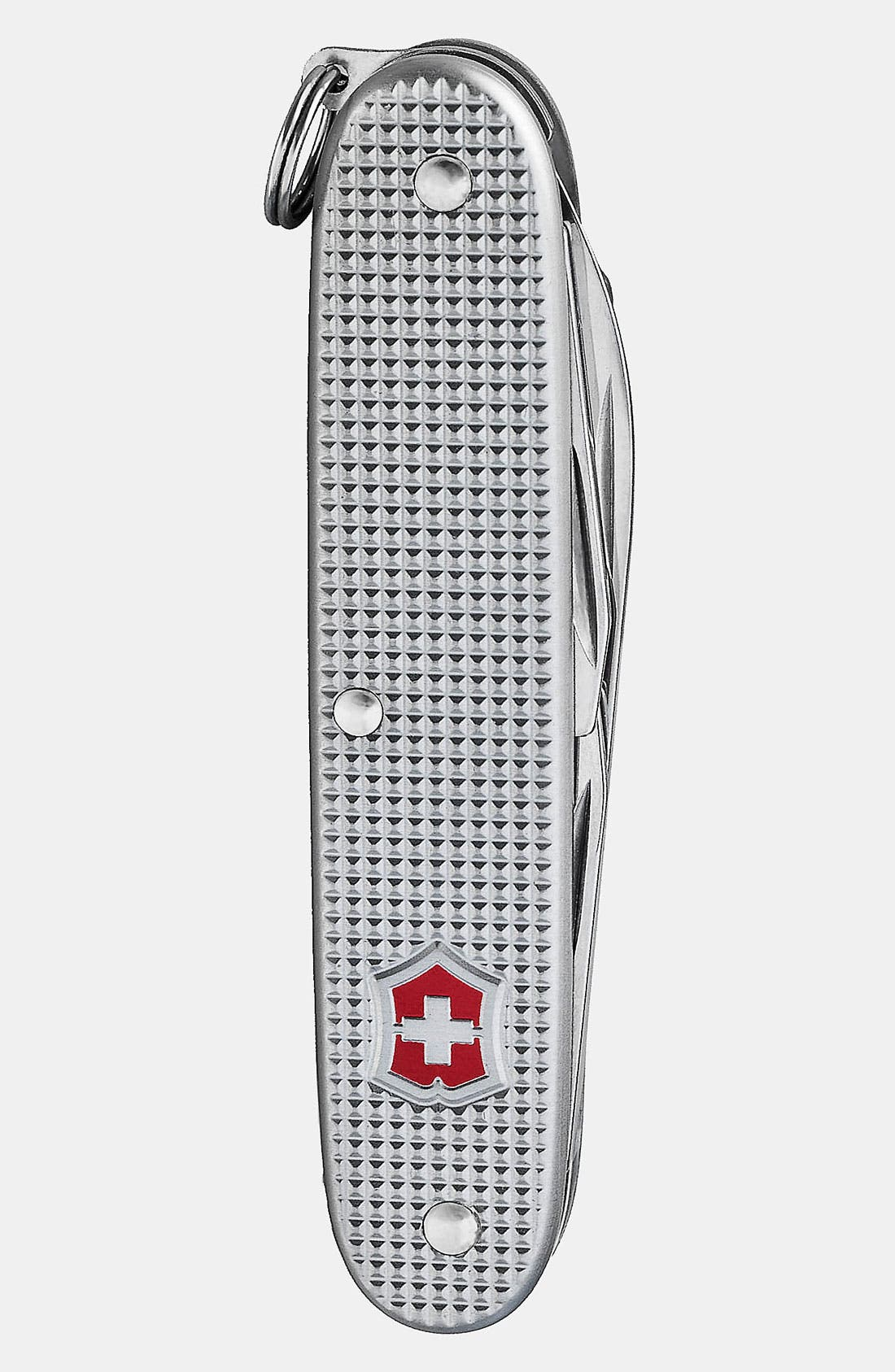 Alternate Image 3  - Victorinox Swiss Army® 'Officer's' Leather Strap Watch with Knife, 40mm