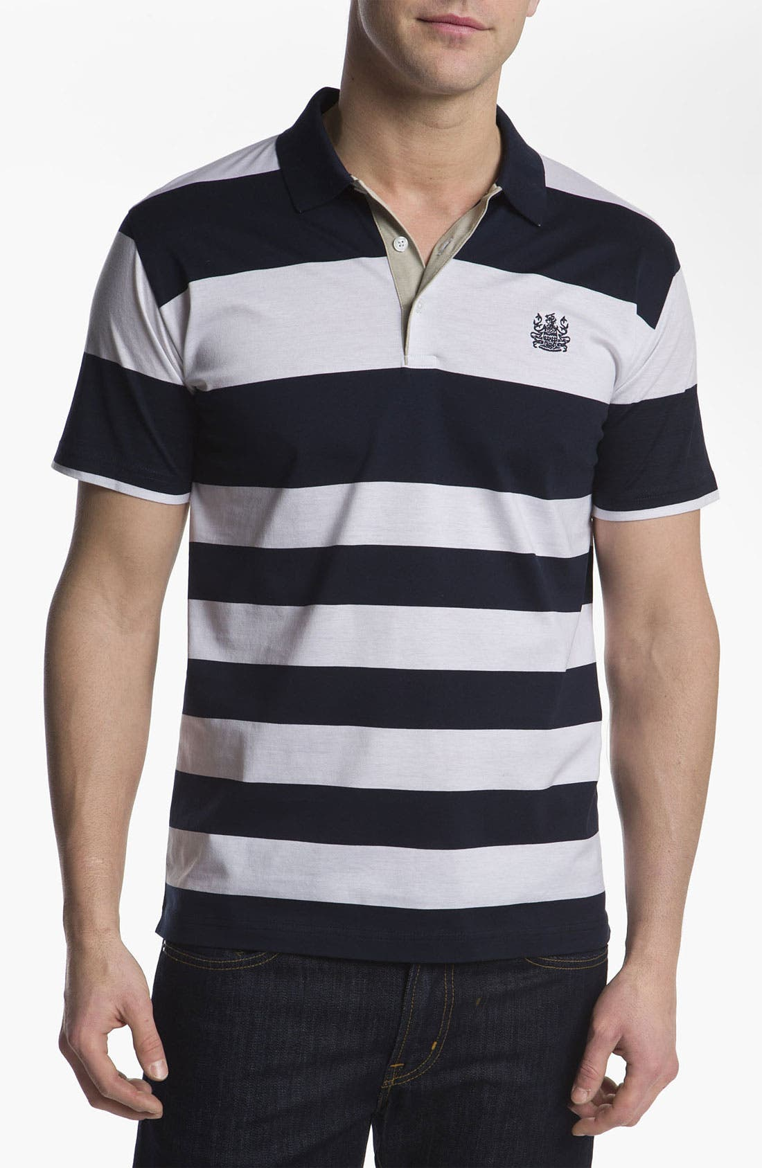 Main Image - Aquascutum Golf 'Block Stripe' Golf Polo
