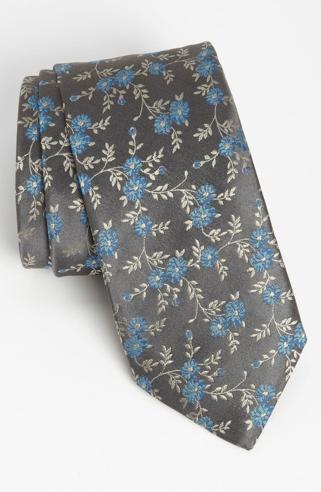 Main Image - Thomas Pink 'Frances Flower' Woven Silk Tie