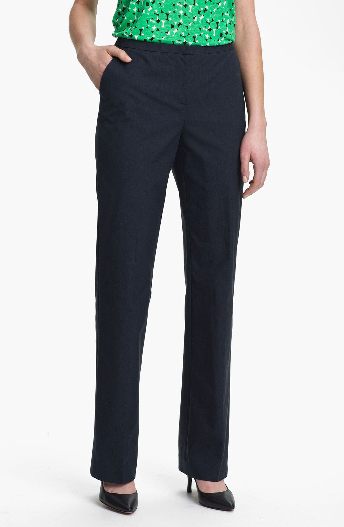 Alternate Image 1 Selected - Halogen 'Taylor' Pinstripe Curvy Fit Pants