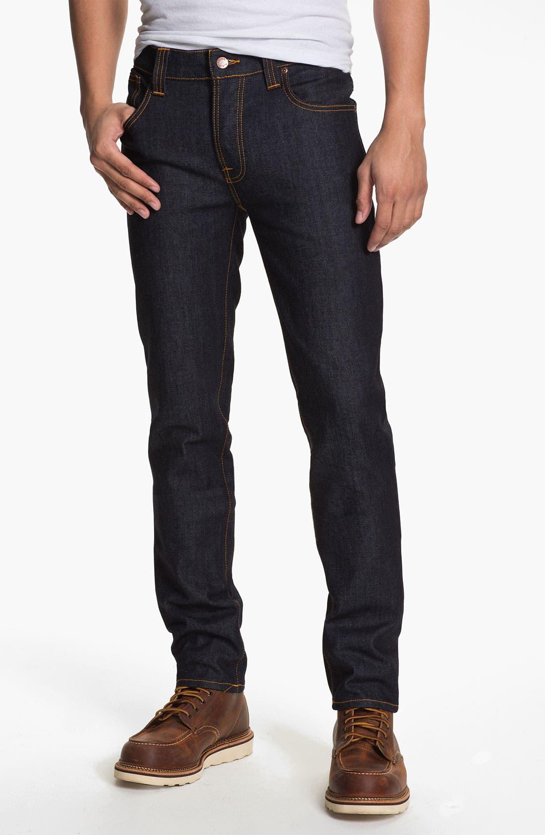 Alternate Image 1 Selected - Nudie 'Grim Tim' Slim Fit Jeans (Organic Dry Navy)