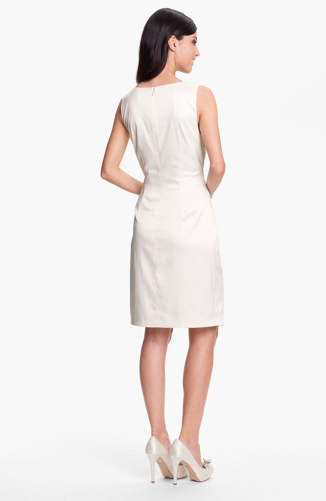 Alternate Image 2  - Eliza J Embellished Ruched Sheath Dress