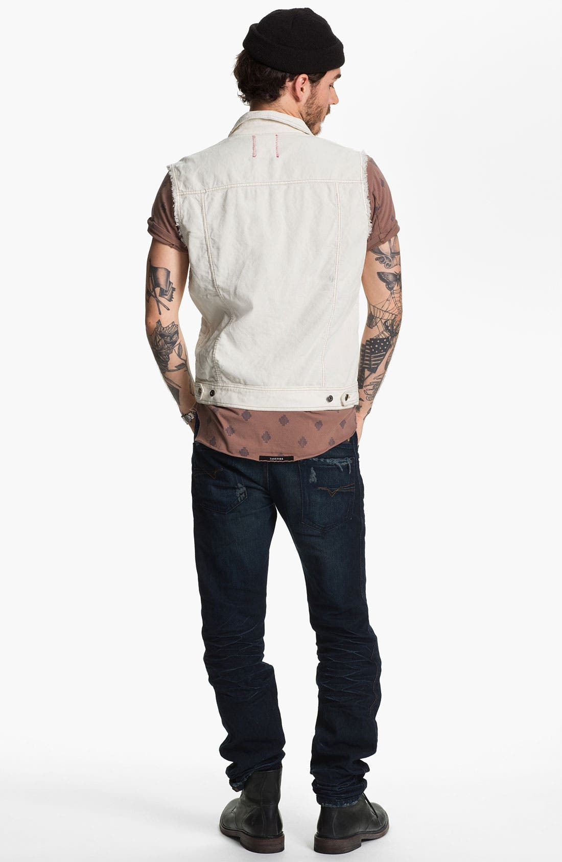 Alternate Image 5  - Vintage Red Cutoff Corduroy Vest