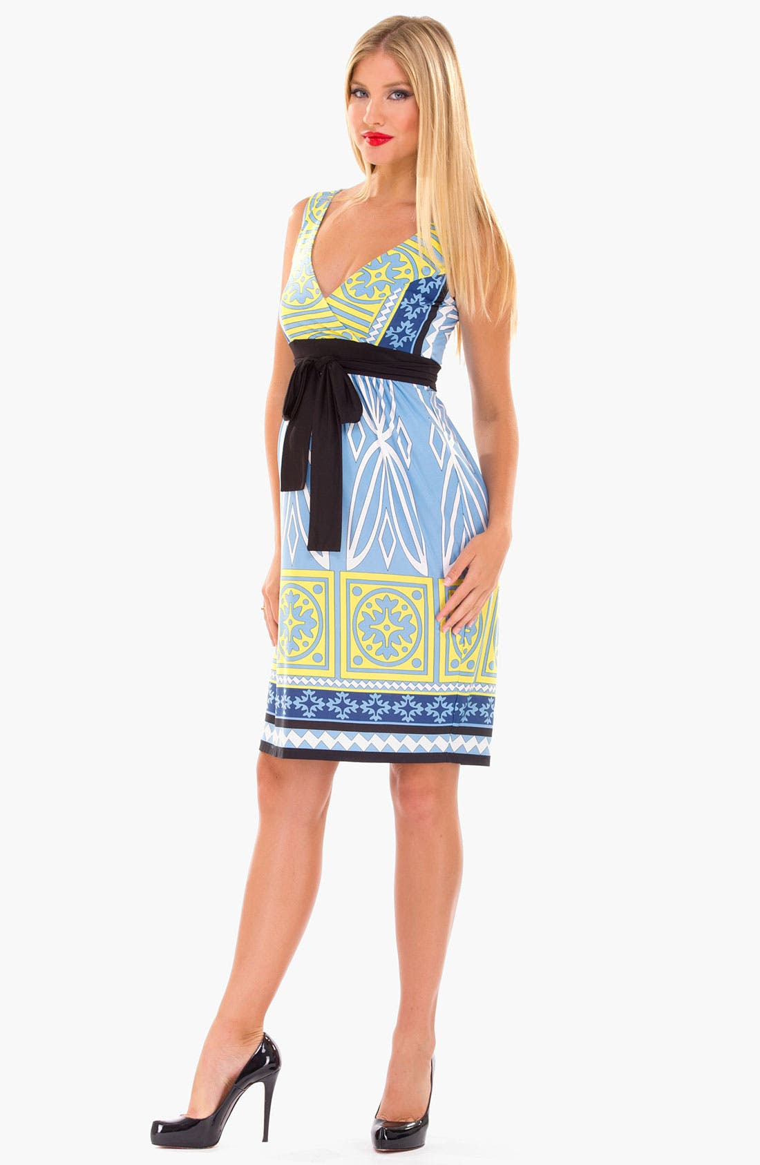 Alternate Image 2  - Olian Print Maxi Maternity Dress