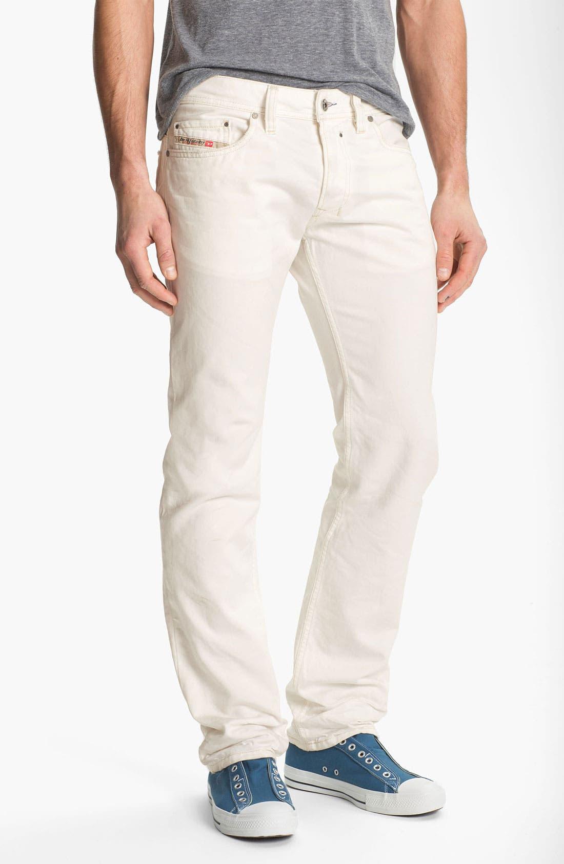 Alternate Image 2  - DIESEL® 'Safado' Slim Fit Jeans (Pure White)