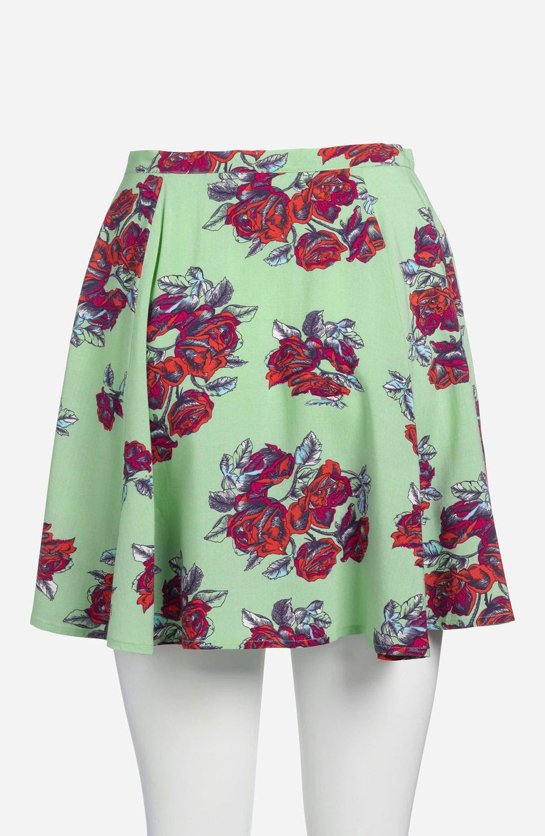 Alternate Image 3  - MINKPINK High Waist Print Skater Skirt