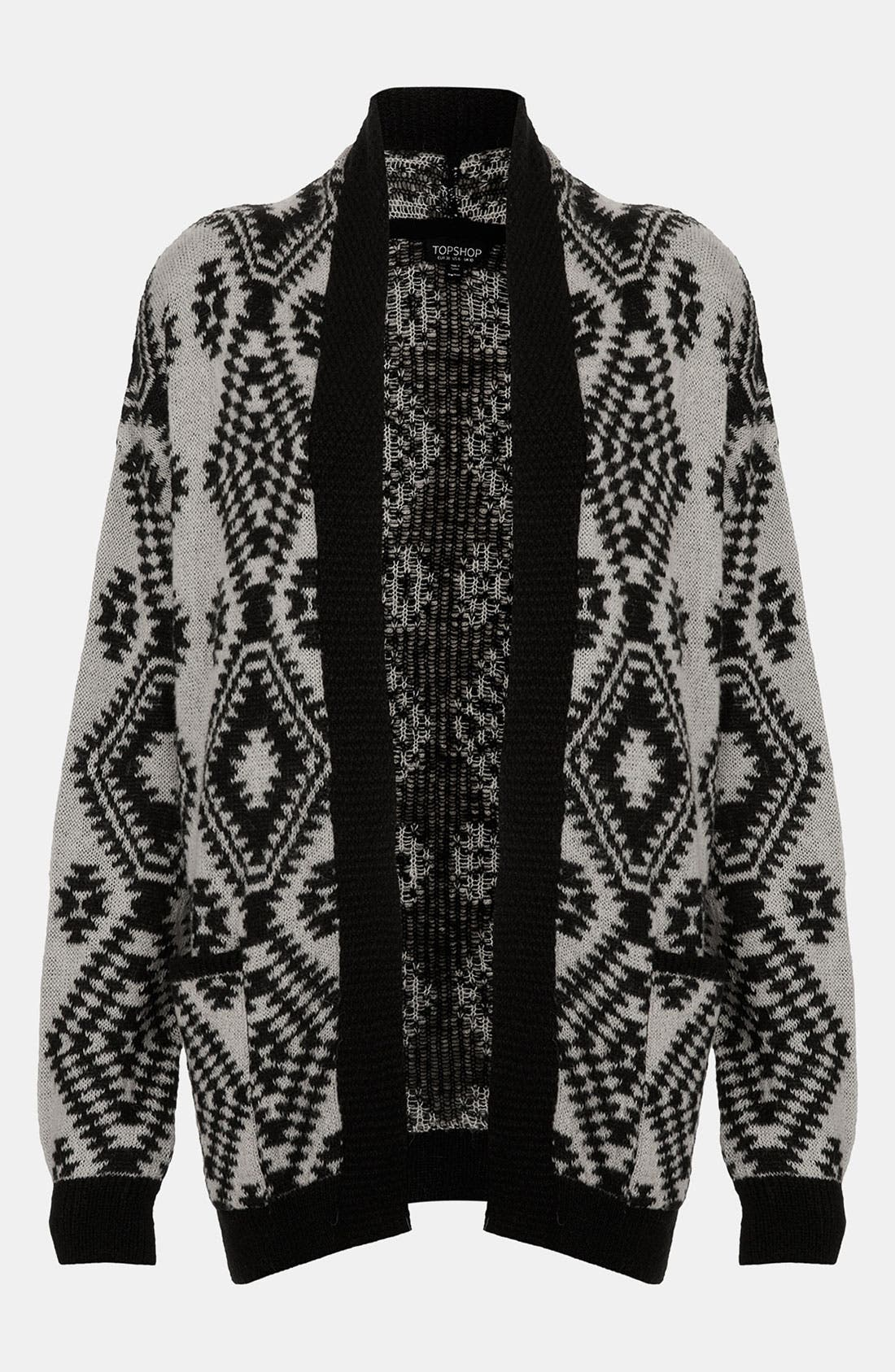 Alternate Image 1 Selected - Topshop Aztec Print Knit Cardigan
