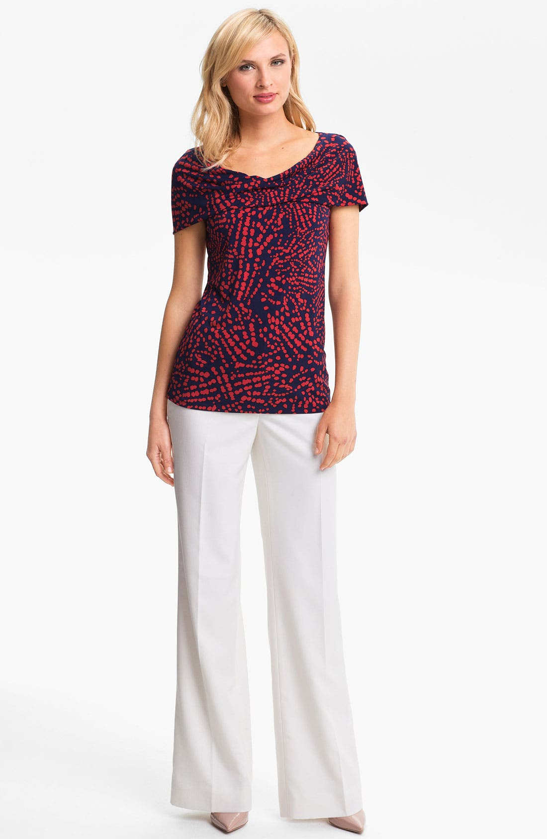 Alternate Image 1 Selected - Anne Klein Abstract Dot Print Shell (Petite)