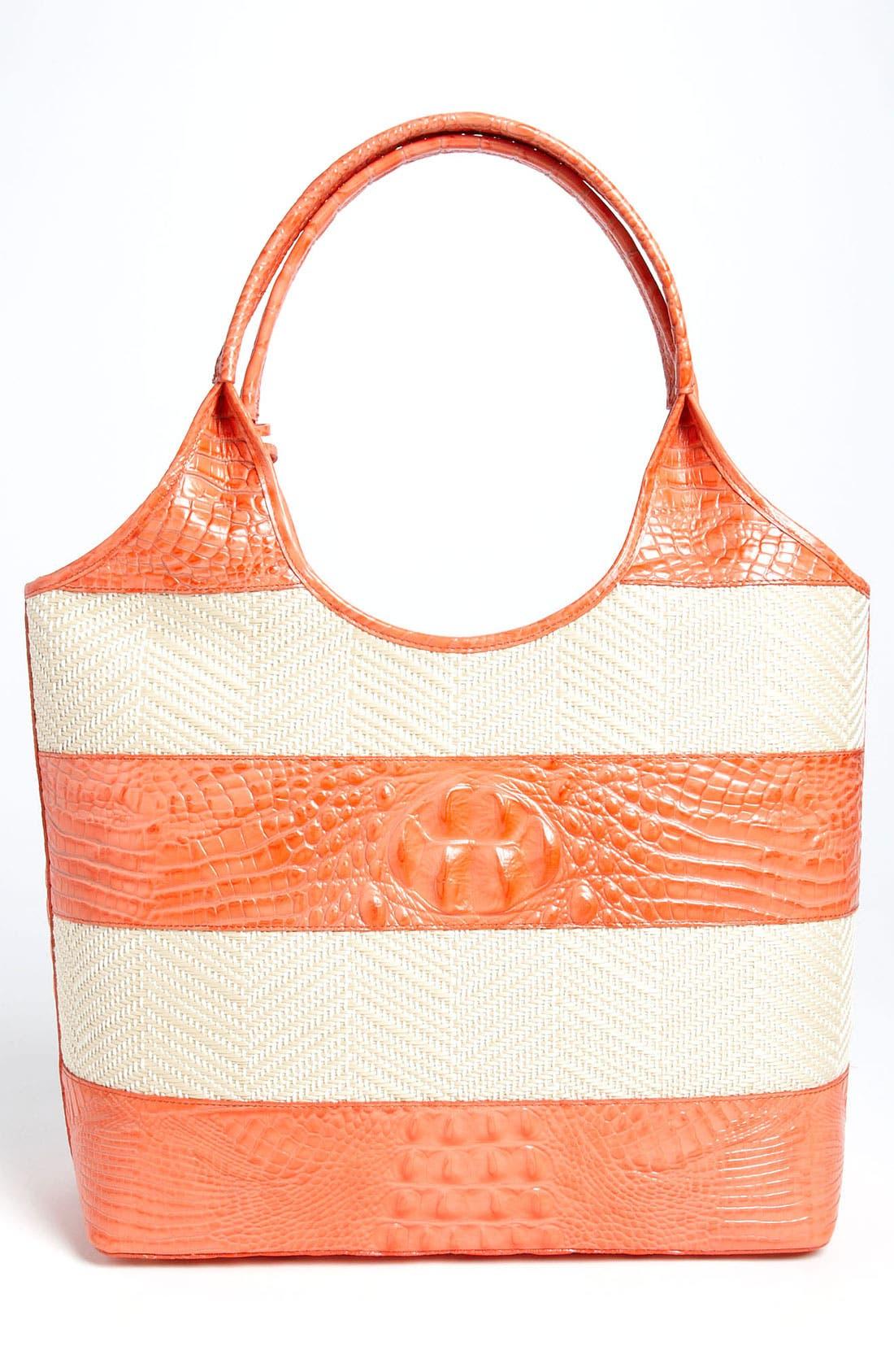 Alternate Image 4  - Brahmin 'Vineyard' Leather & Raffia Shopper