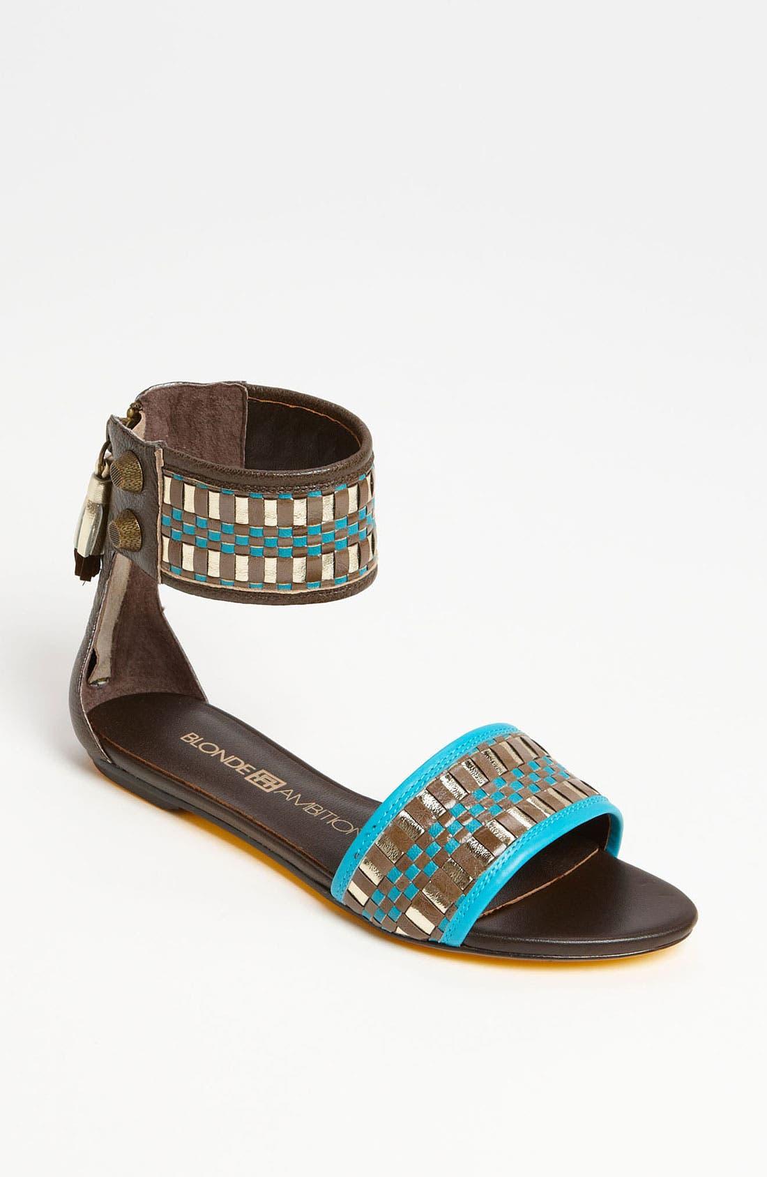 'Veloz' Sandal,                         Main,                         color, Teal