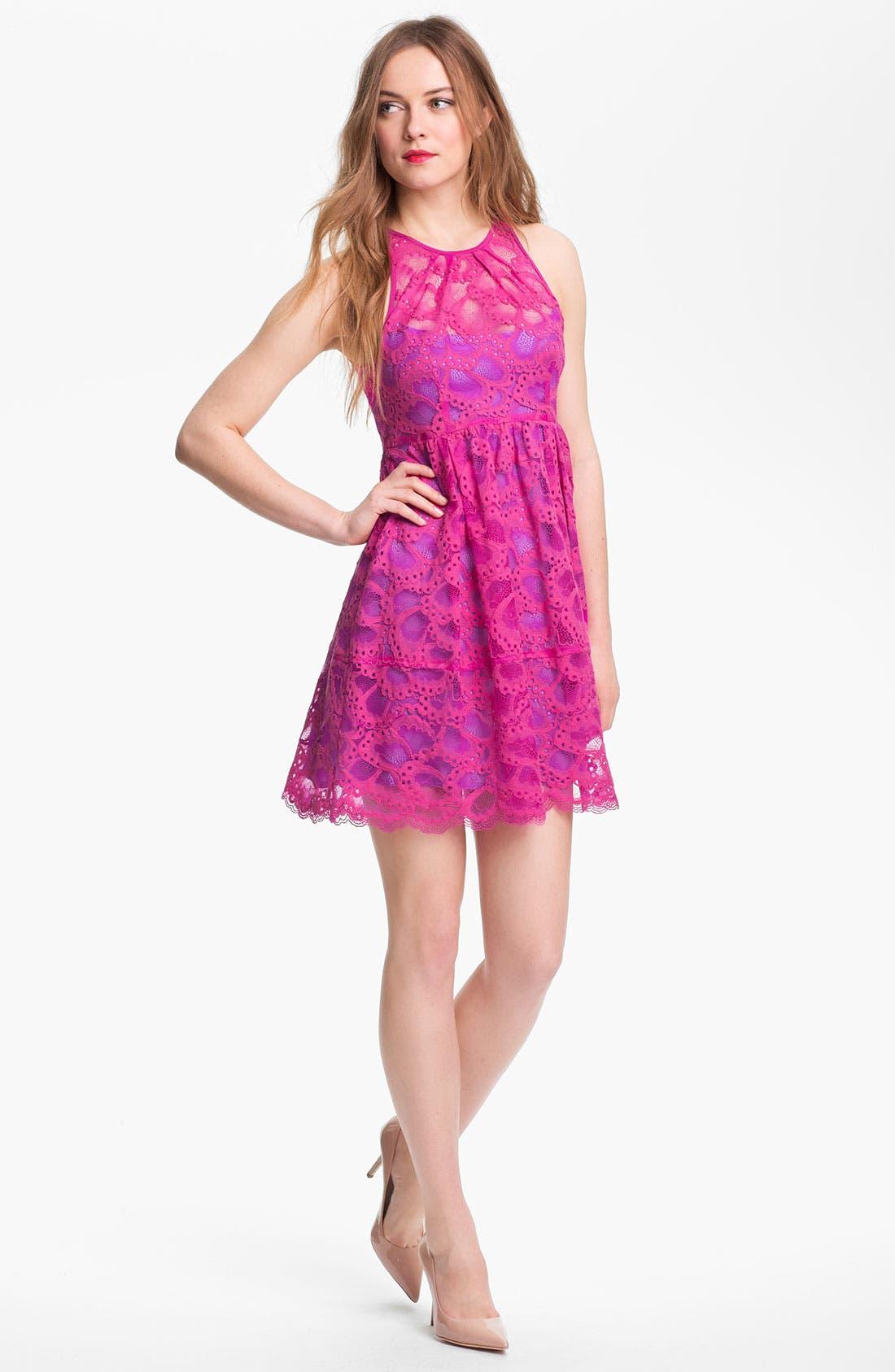 Alternate Image 1 Selected - Nanette Lepore 'Secret Escape' Cotton Blend A-Line Dress