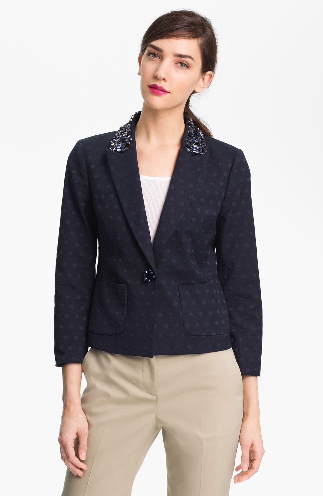 Alternate Image 1 Selected - Tory Burch 'Jaclyn' Embellished Blazer