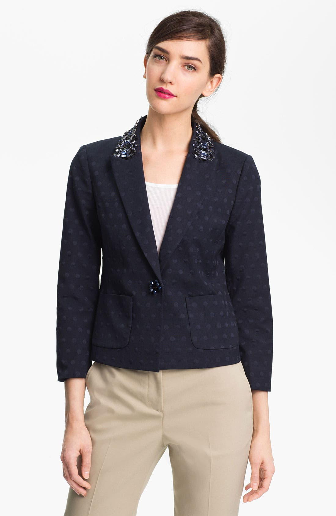 Main Image - Tory Burch 'Jaclyn' Embellished Blazer