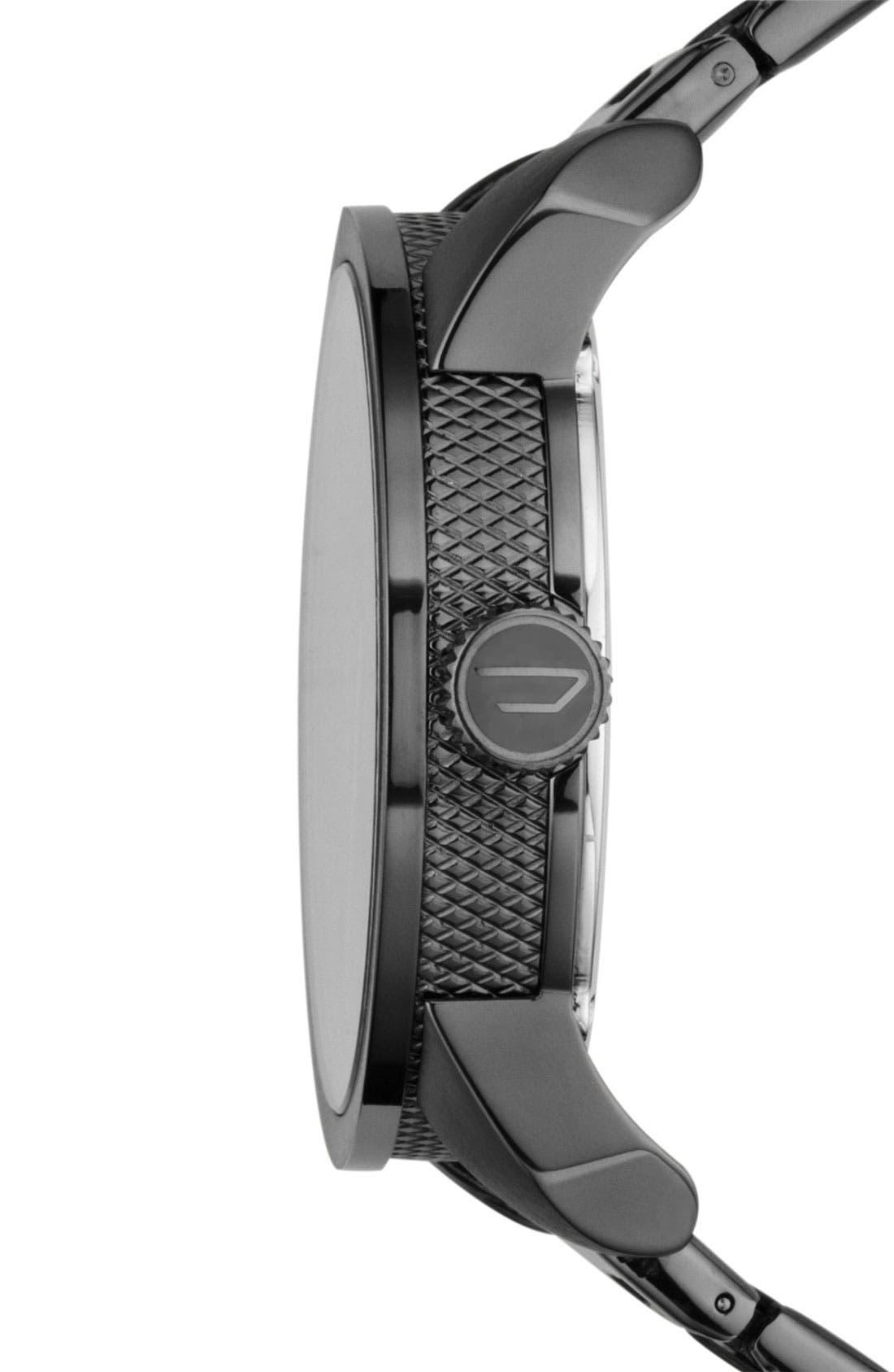 Alternate Image 3  - DIESEL® 'Double Down' Bracelet Watch, 46mm