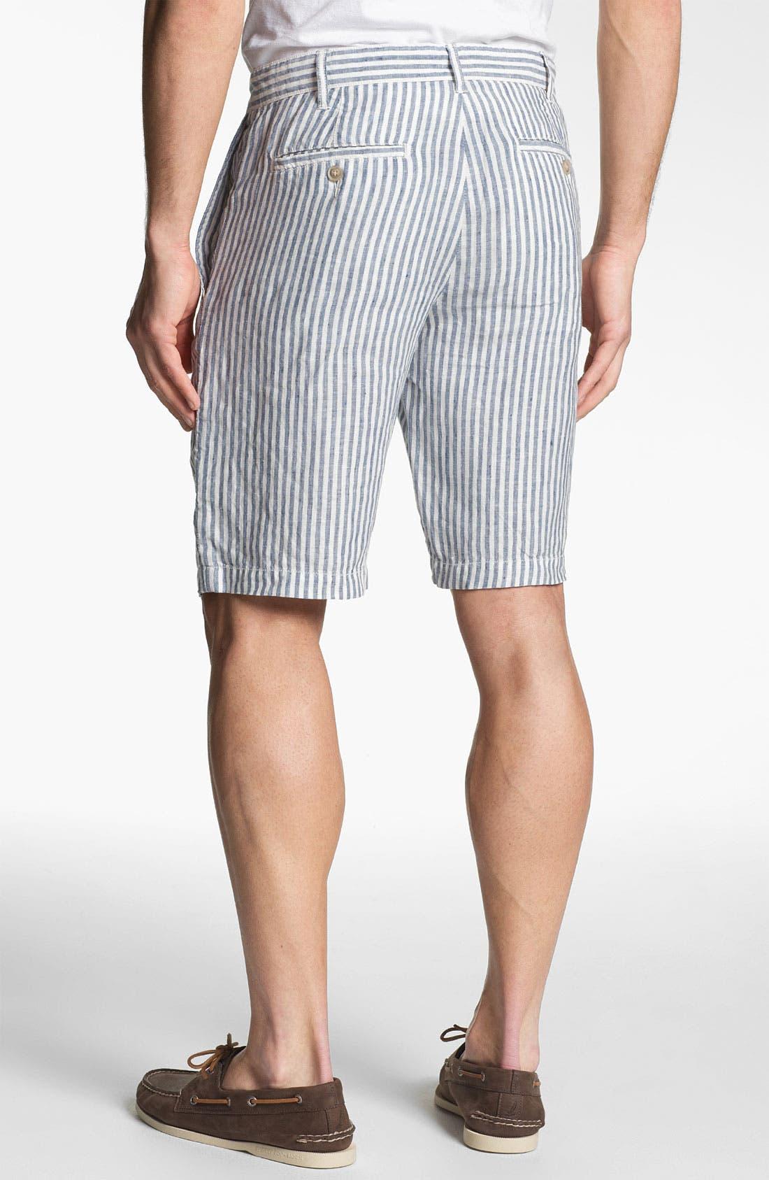 Alternate Image 2  - 1901 'Eastport' Linen Shorts