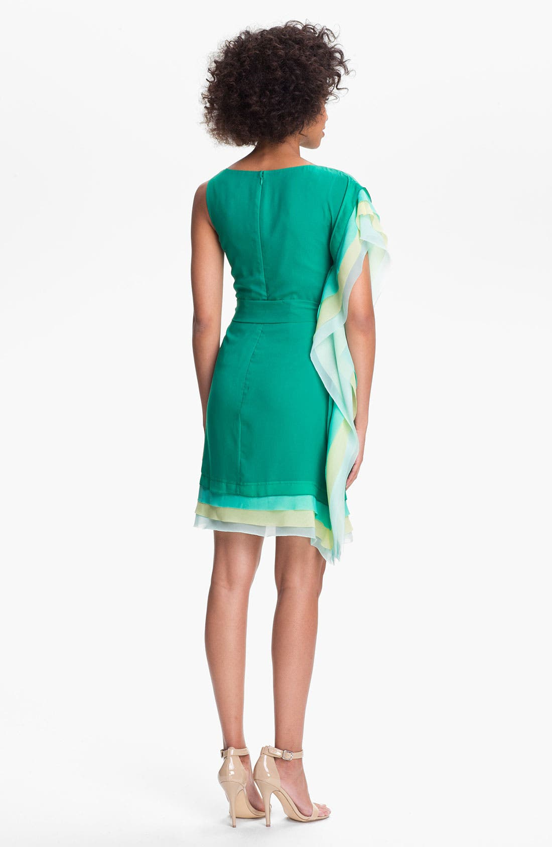 Alternate Image 2  - Vince Camuto Asymmetrical Tiered Sheath Dress