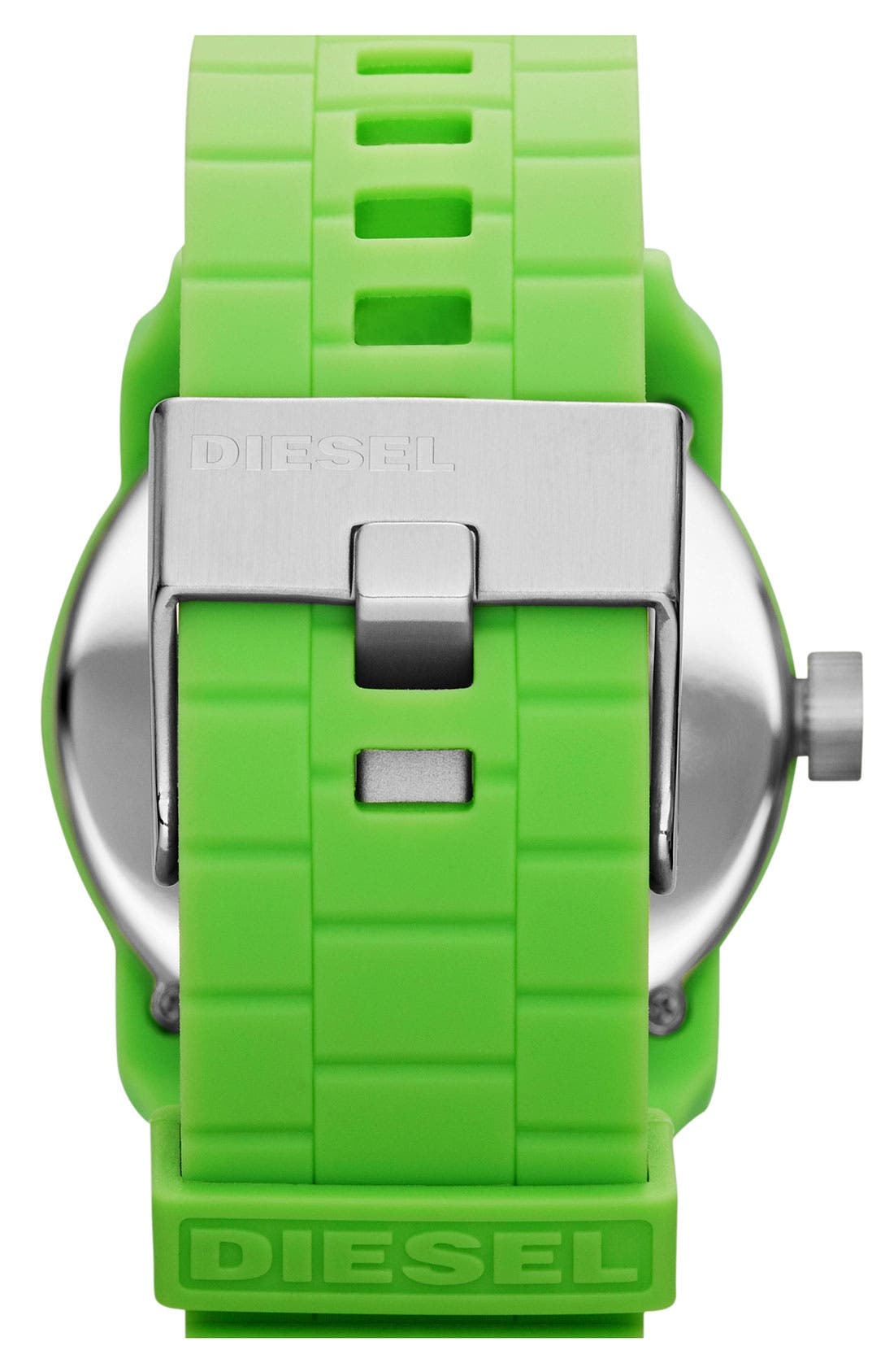 Alternate Image 3  - DIESEL® 'Franchise' Silicone Strap Watch, 44mm