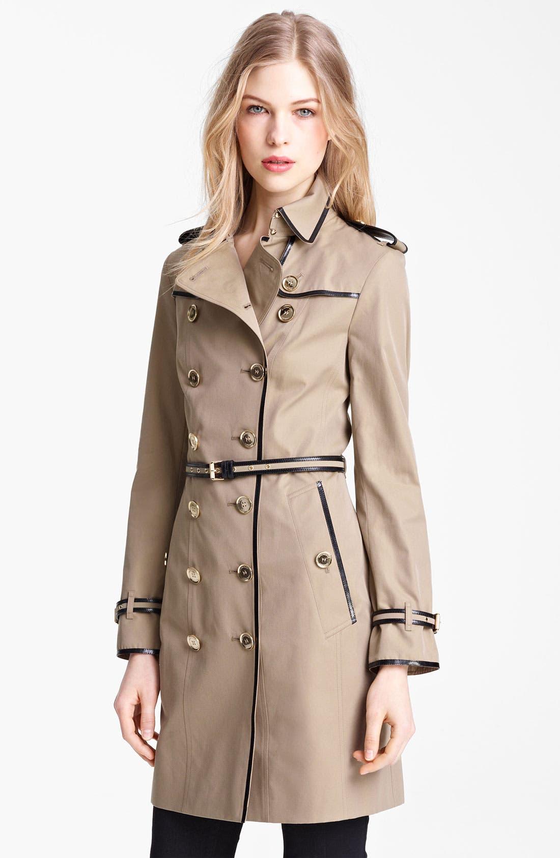 Alternate Image 1 Selected - Burberry London Belted Gabardine Trench Coat