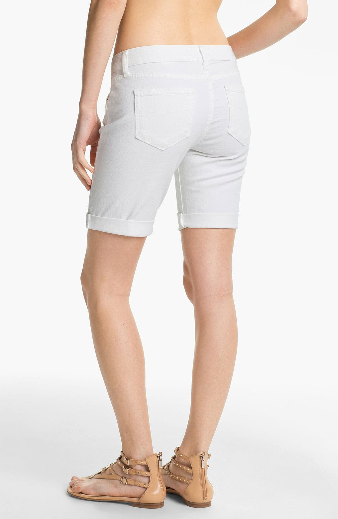 Alternate Image 2  - Paige Denim 'Jax' Stretch Denim Bermuda Shorts (Optic White)