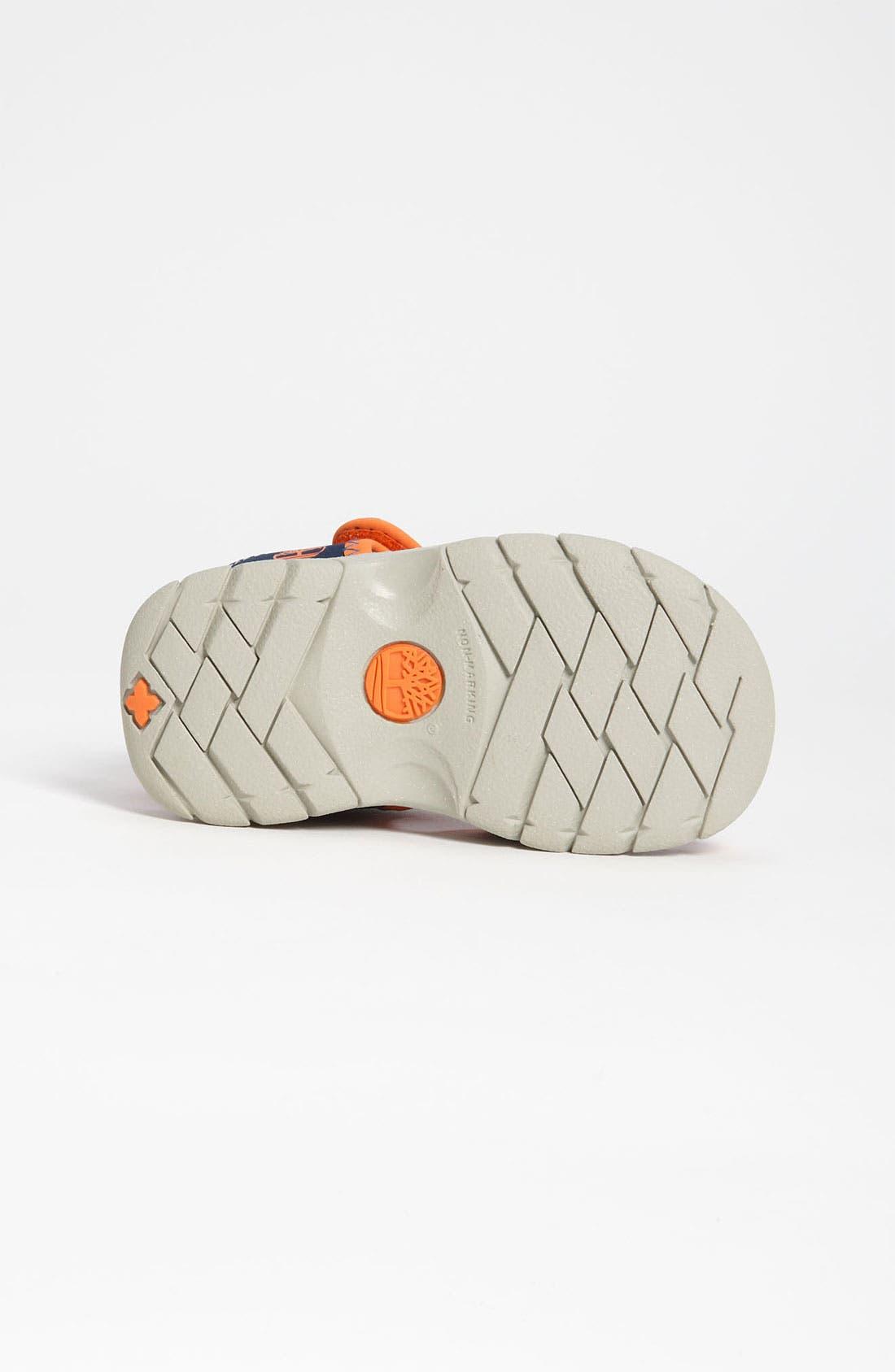 'Little Harbor' Sandal,                             Alternate thumbnail 4, color,                             Navy/ Orange