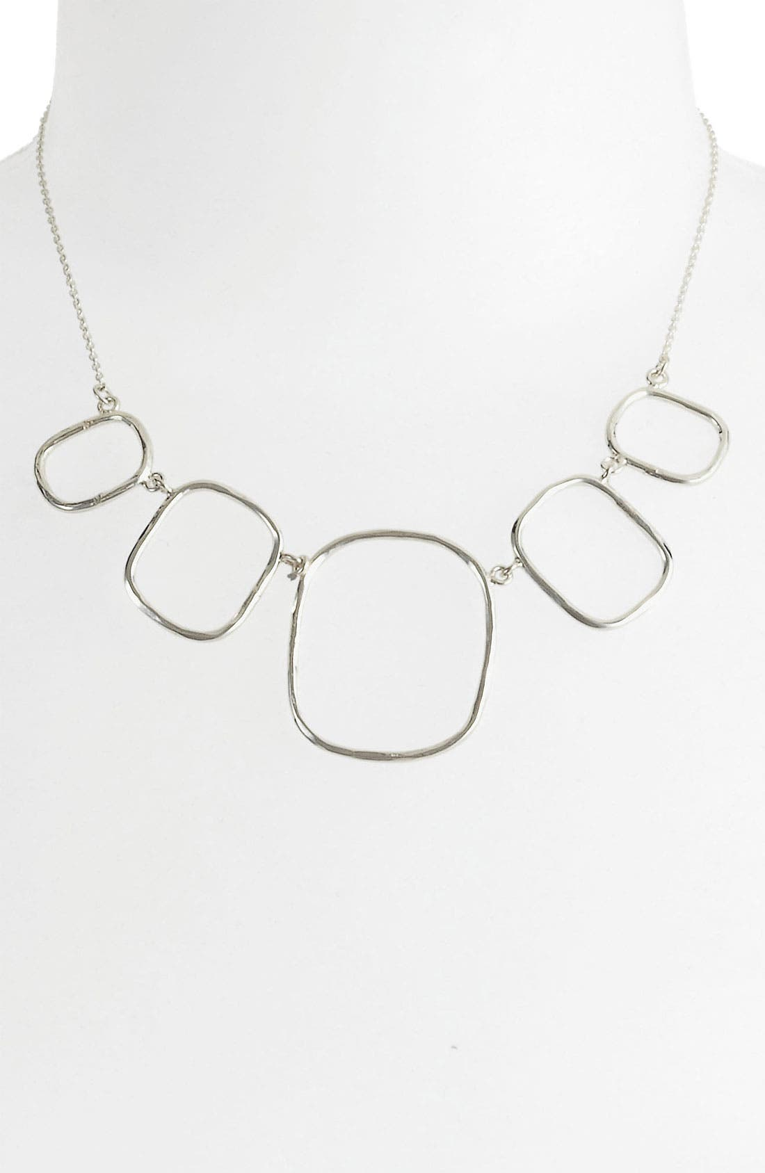 Main Image - Argento Vivo Hammered Bib Necklace