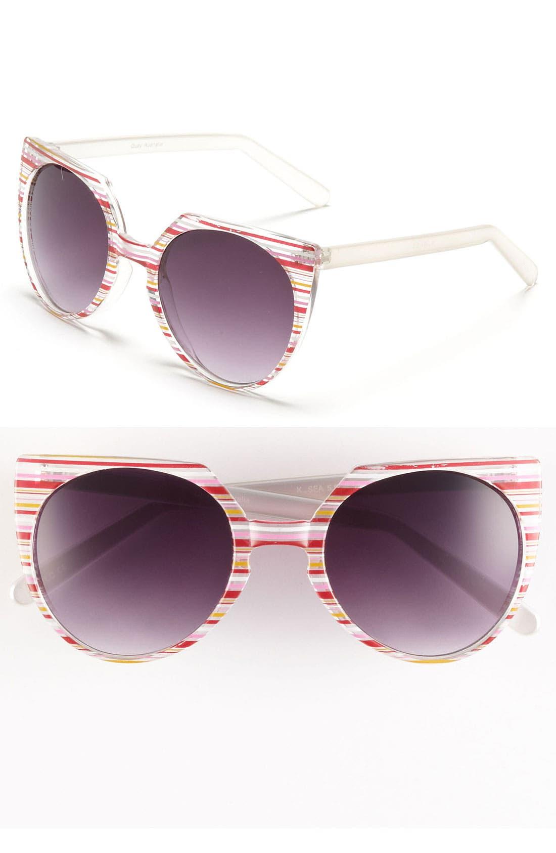 Quay Retro Sunglasses,                         Main,                         color, Red