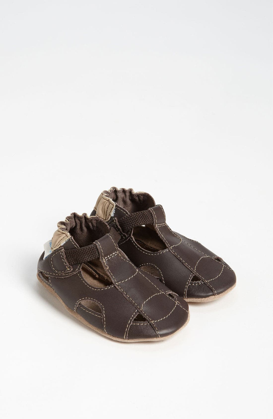 Alternate Image 1 Selected - Robeez® Fisherman Sandal (Baby & Walker)
