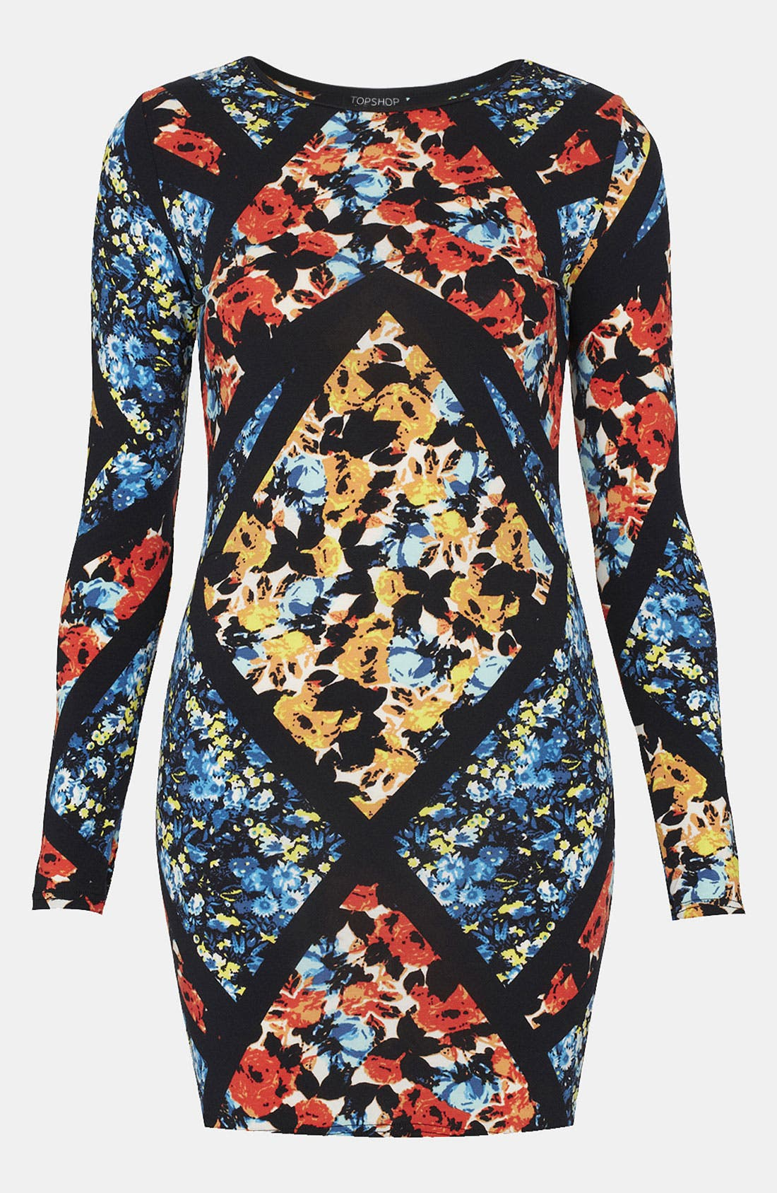 Alternate Image 1 Selected - Topshop Floral Print Body-Con Dress
