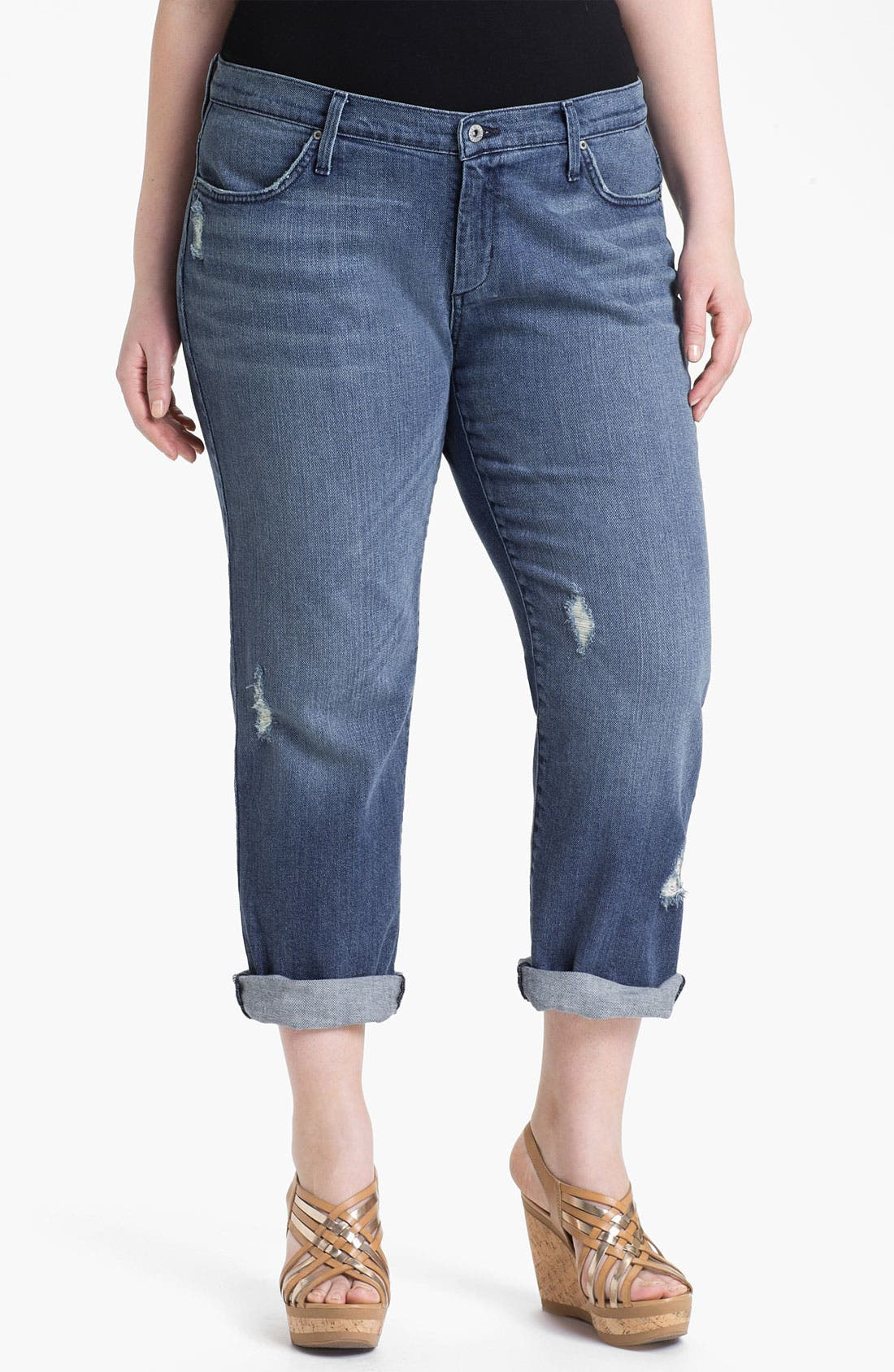 Alternate Image 1 Selected - James Jeans Straight Leg Jeans (Gossip) (Plus Size)