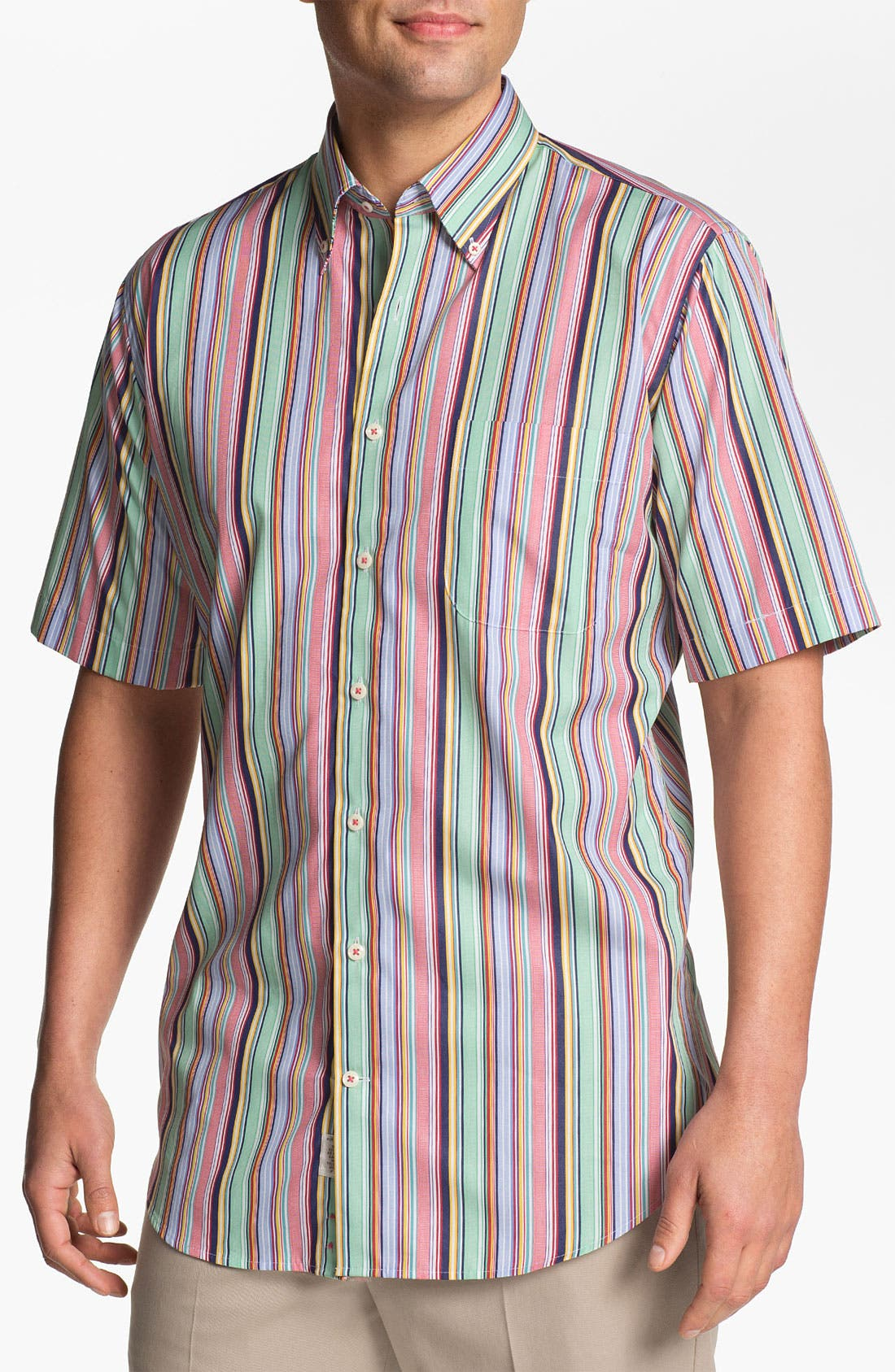 Alternate Image 1 Selected - Peter Millar Regular Fit Short Sleeve Sport Shirt
