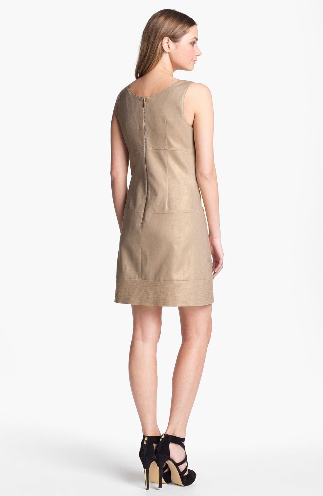 Alternate Image 2  - Laundry by Shelli Segal Metallic Seamed Tank Dress