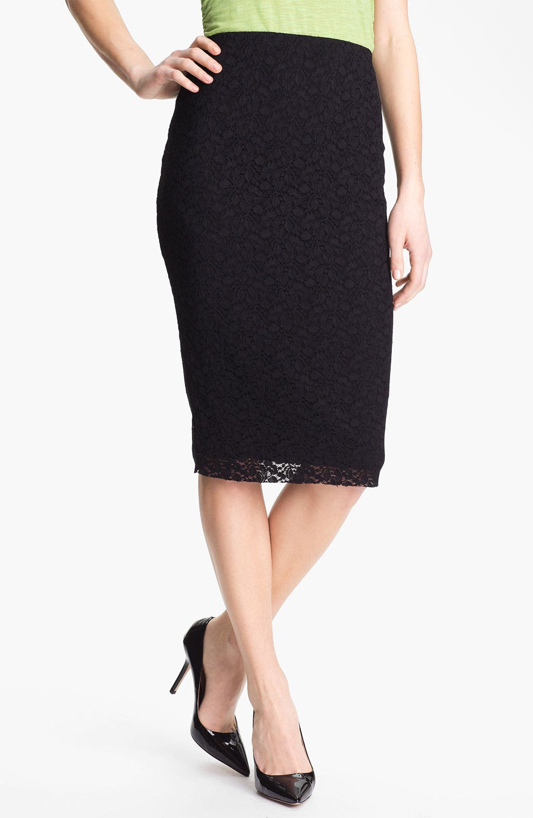 Alternate Image 1 Selected - Vince Camuto Lace Midi Skirt