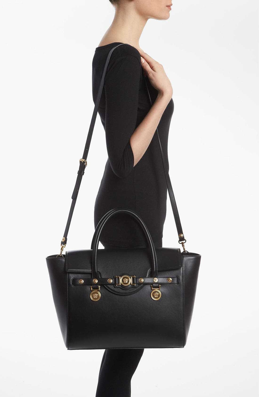 Alternate Image 2  - Versace 'Classic' Leather Satchel