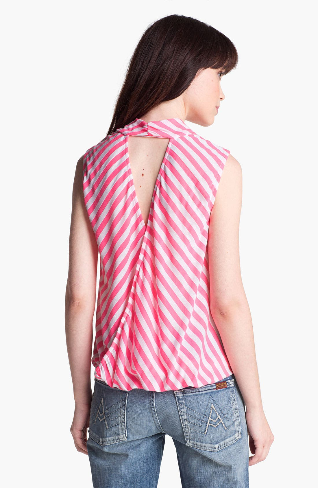 Alternate Image 2  - Ella Moss Neon Stripe Cutout Surplice Tank