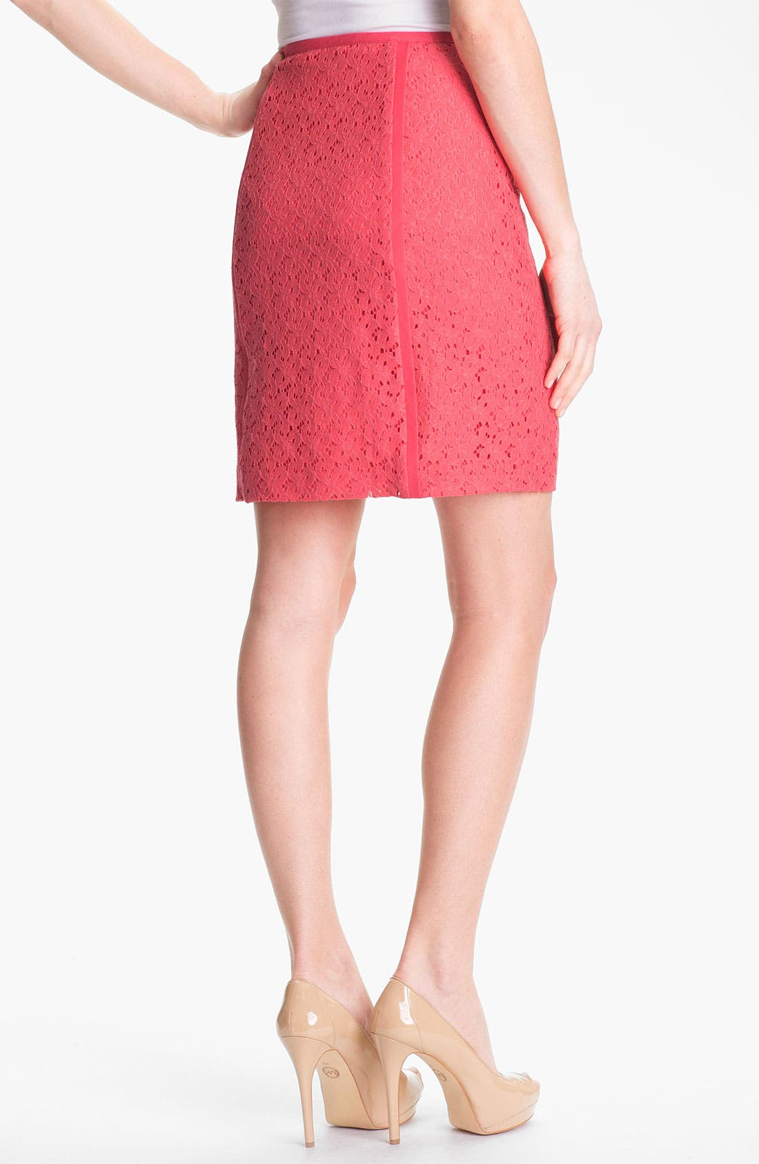 Alternate Image 2  - DKNYC Lace Pencil Skirt