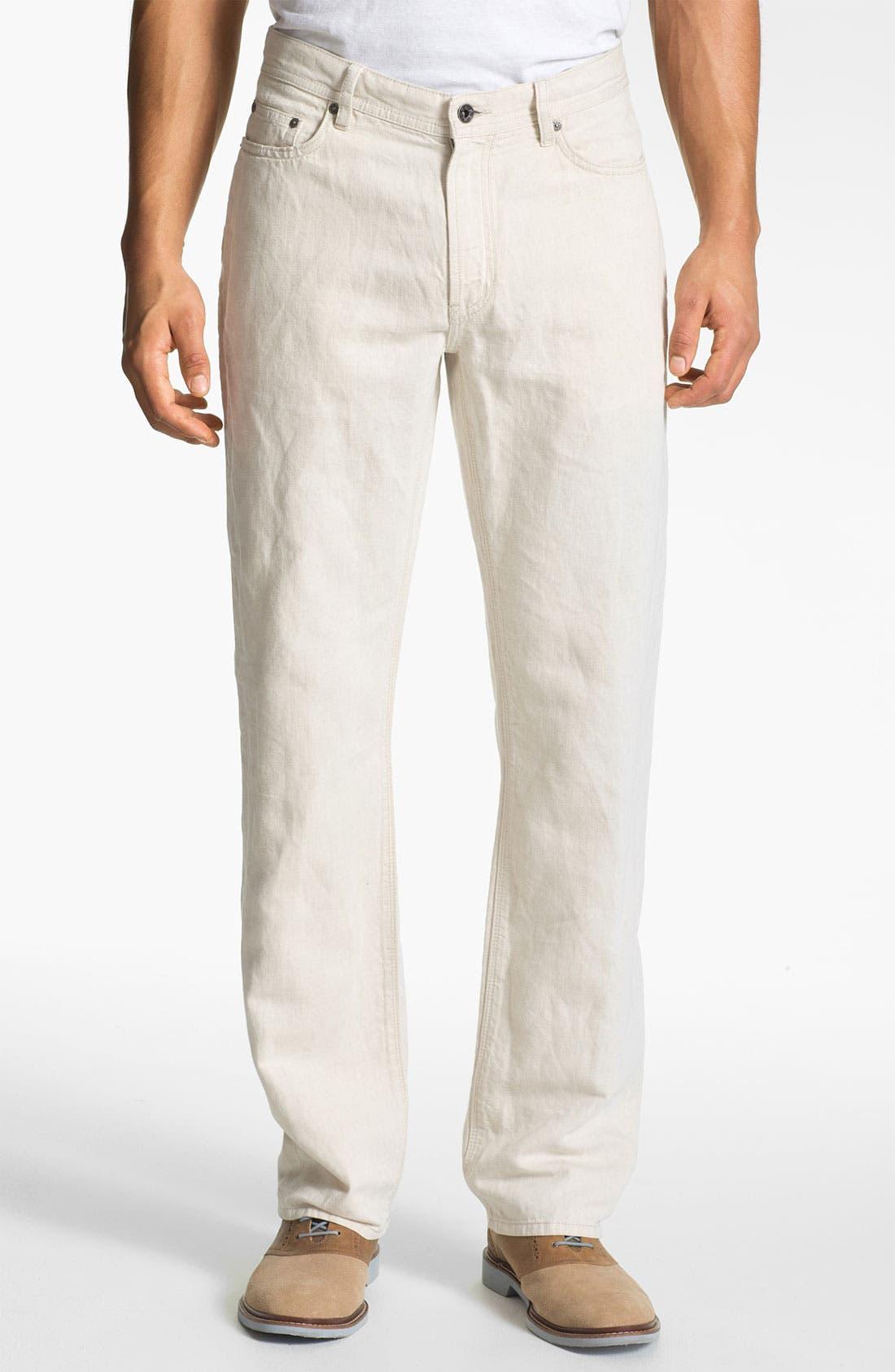 Main Image - John Varvatos Star USA Linen Blend Pants