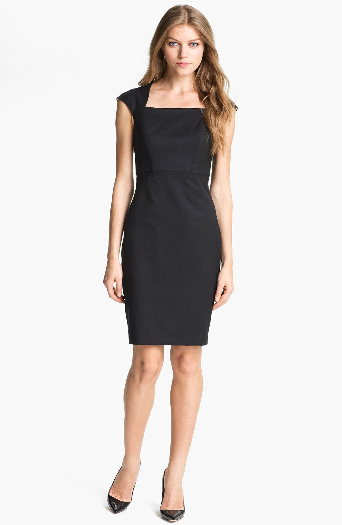 Alternate Image 1 Selected - Ted Baker London 'Miakod' Wool Blend Sheath Dress
