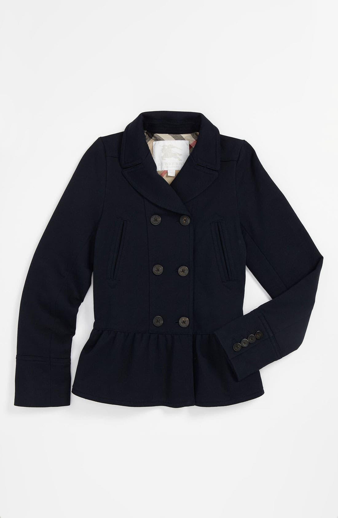 Alternate Image 1 Selected - Burberry 'Janetta' Knit Jacket (Little Girls & Big Girls)